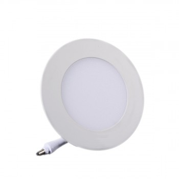 Plafonnier LED Rond Extra-plat 6W Blanc Froid