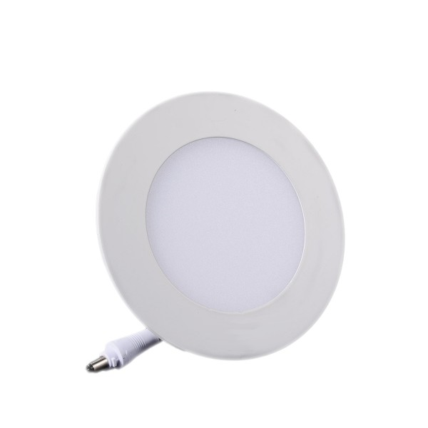 Plafonnier LED Rond Extra-plat 6W Blanc Froid class=