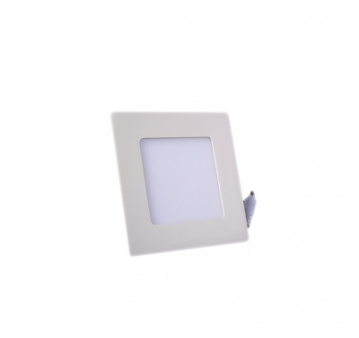 Plafonnier LED Carré Extra-plat 3W Blanc Froid