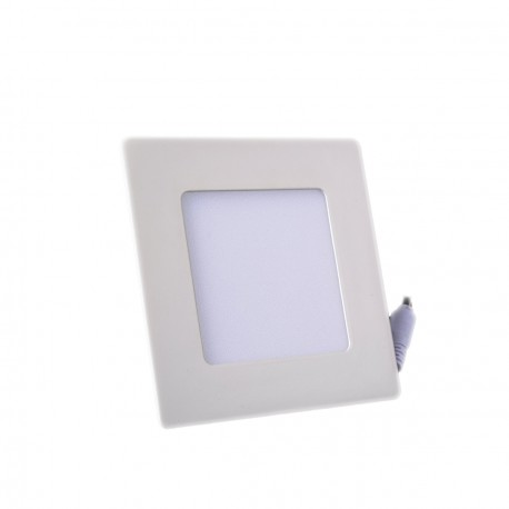 Plafonnier LED Carré Extra-plat 6W Blanc Froid
