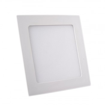 Plafonnier LED Carré Extra-plat 12W Blanc Froid